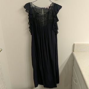 Rebecca Taylor blue lace midi dress